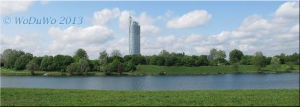 Tower hinter der Donau (-insel)