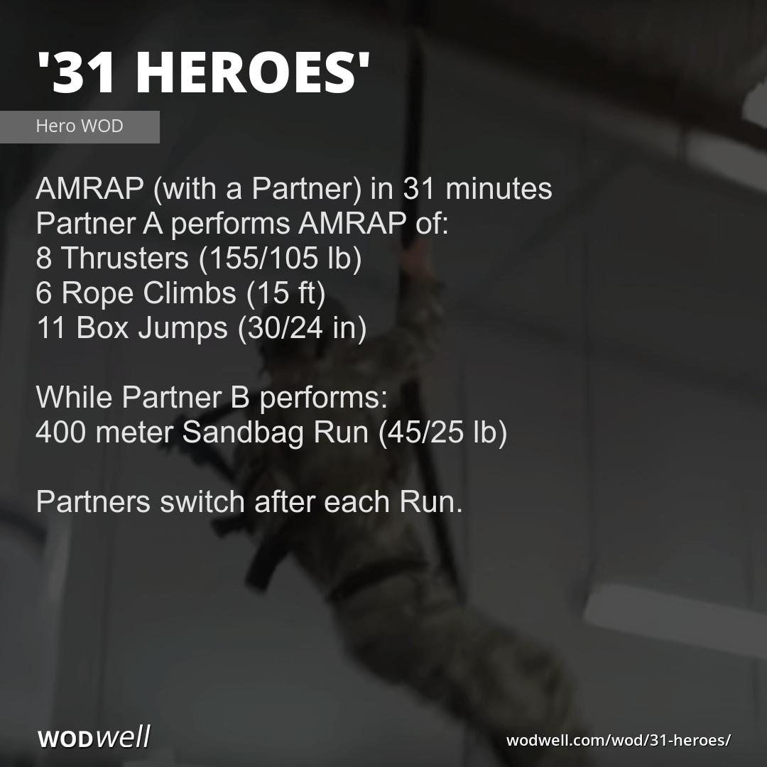 Quot 31 Heroes Quot Wod