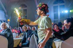 Wörlitz Eichenkranz Theaterdinner mit der Olsenbande. Theaterstück zum 150 Mal und damit meist gespielte Stück. Foto: ©Thomas Klitzsch