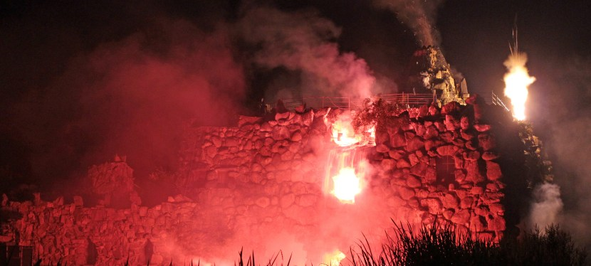 Vulkanausbruch im Wörlitzer Park