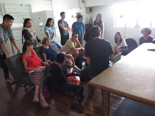 studio visit with Vic Balanon and Poklong Anading, Cubao