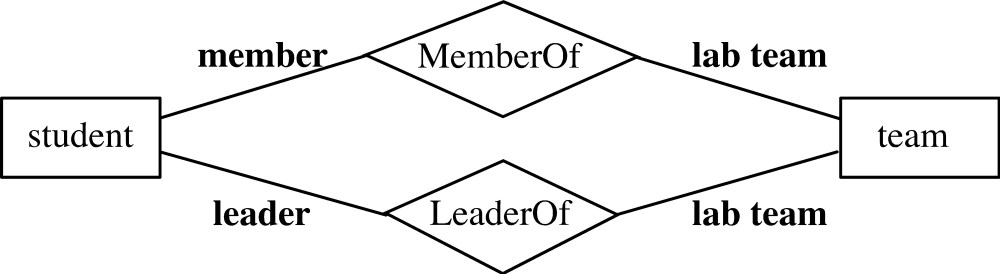 medium resolution of er diagram notation with roles member leader and lab team