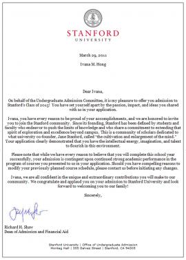 Ivana Stanford Letter abc  WOGA Team News