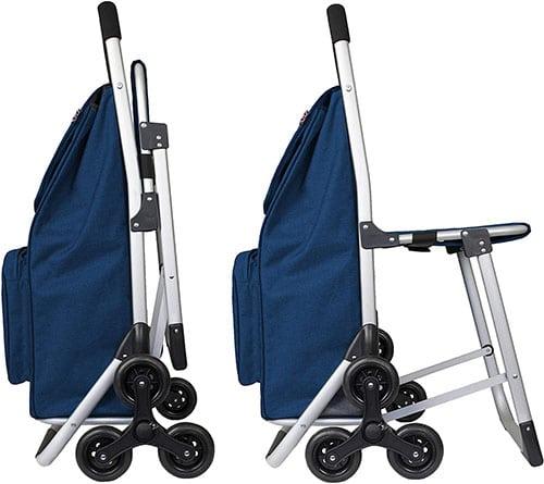 количка за пазаруване със седалка