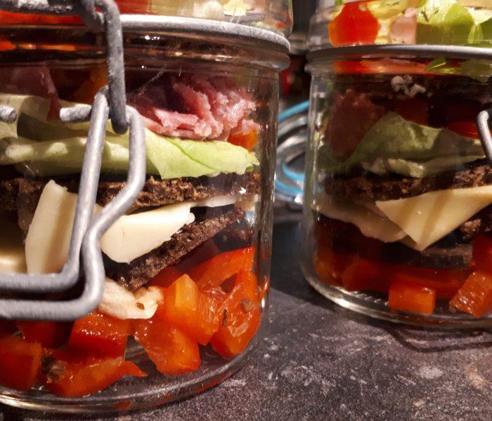 Sandwich im Glas