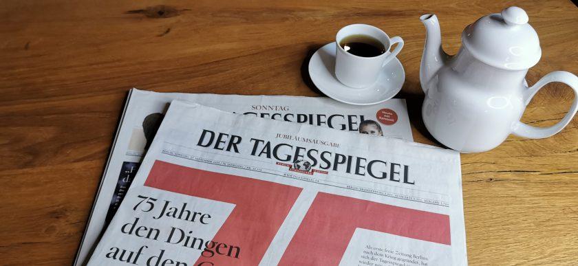 Jubiläumsausgabe 75 Jahre Tagesspiegel