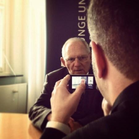 Im Interview mit Wolfgang Schäuble 2013