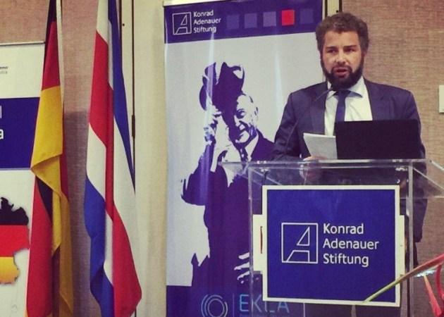 Vortrag in Costa Rica bei einem Kongress der Konrad-Adenauer-Stiftung 2016