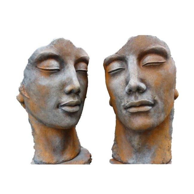 Steinguss Skulptur Mann Frau
