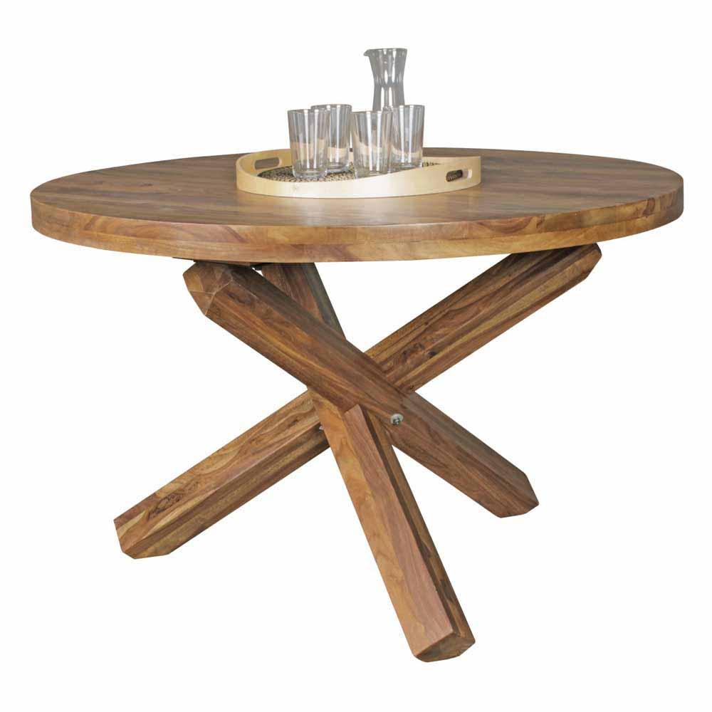 Runder Esstisch Holz Ausziehbar Gartenmobel Tisch Rund Rattan