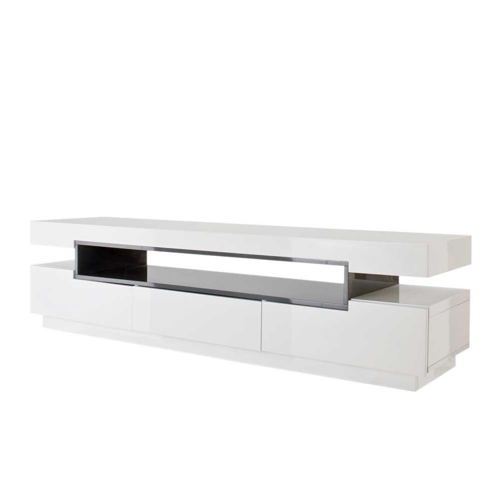 Sideboard Für Fernseher Tv Lowboard 120 Cm Mdf Holz Retro 2 Türen