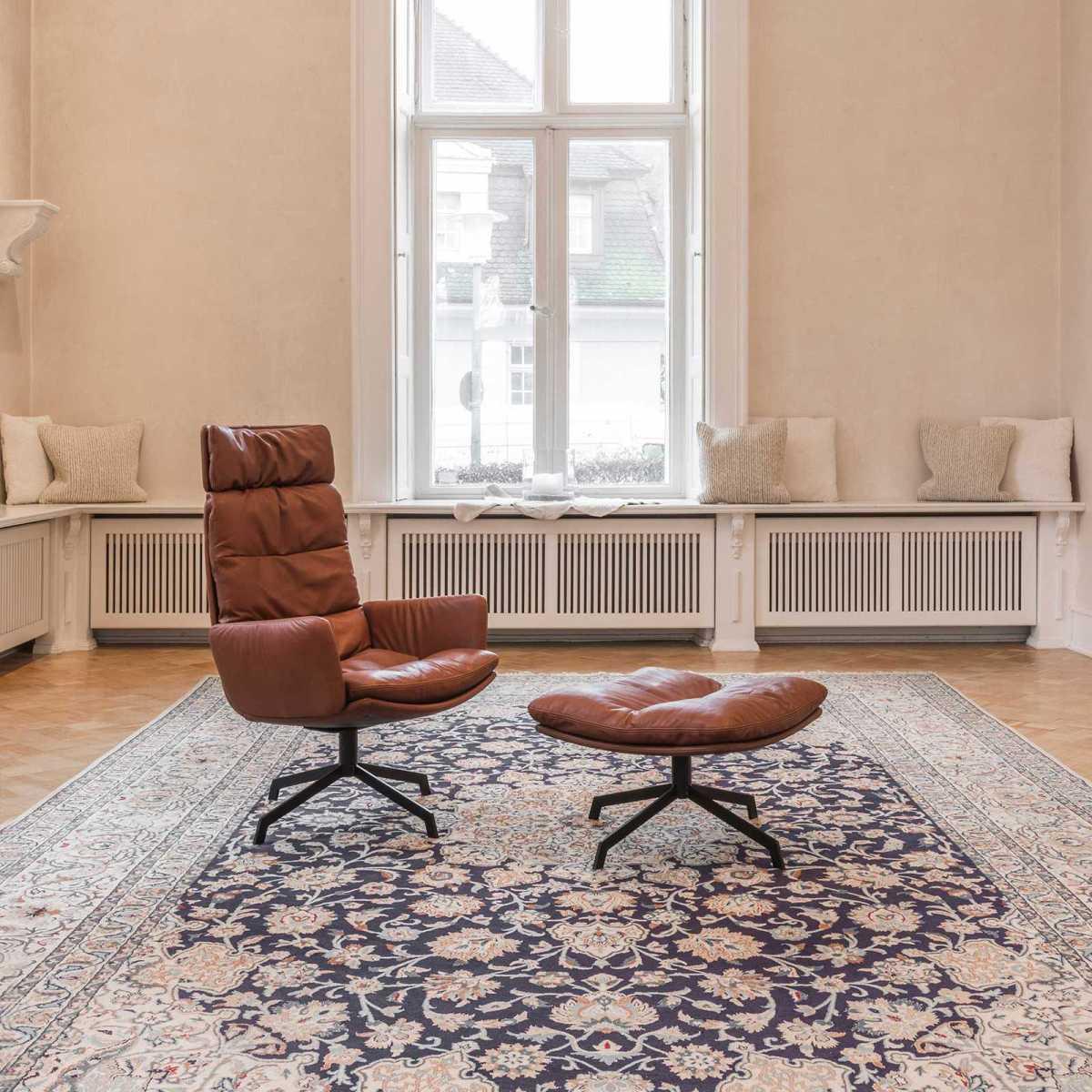 Das Arva Lounge KFF Sessel drehbar 4-Fuss-Stern-Gestell