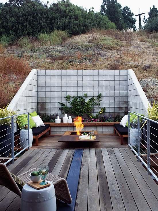 terrasse hanglage garten hanglage mauer garten hanglage modern
