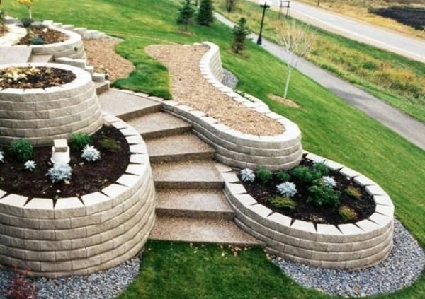 s gartengestaltung pflege landschaftsbau steinmauer im garten,