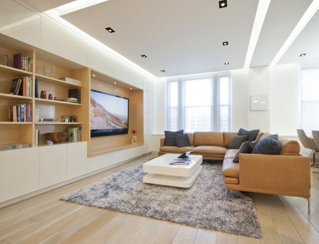 moderne deckenbeleuchtung wohnzimmer - boisholz - Deckenbeleuchtung Wohnzimmer