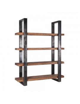 Regal Stahl Holz Excellent Modernes Regal Holz Lackiertes