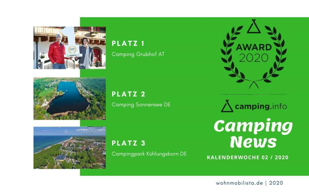 Camping News Wochenrückblick – KW02/2020