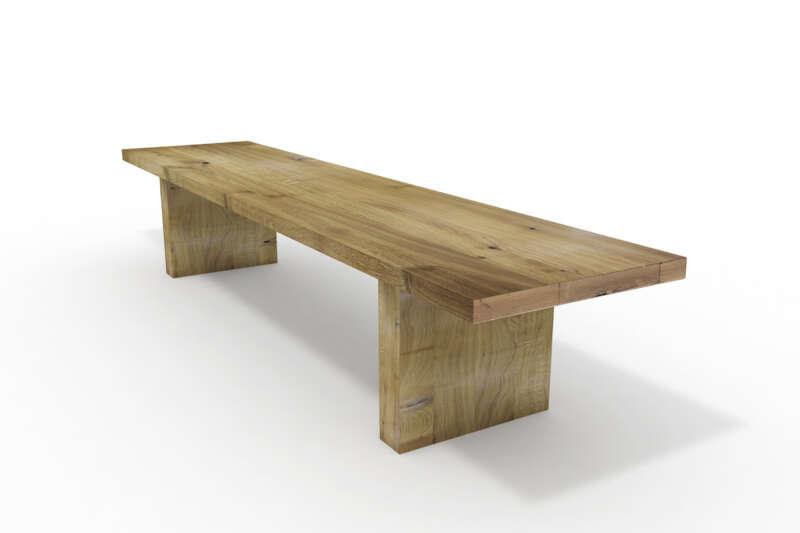 Nussbaum Tischplatte nach Ma massiv mit Baumkante  ansehen