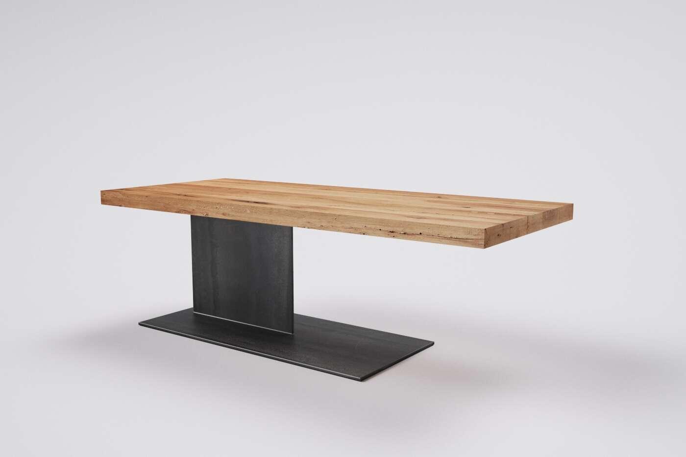 holz eiche metall aufbewahrungsbox 135x70 cm holz dekor eiche. Black Bedroom Furniture Sets. Home Design Ideas