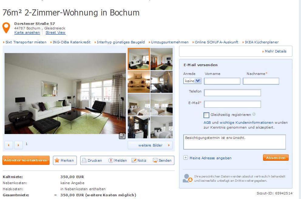 3 zimmer Wohnung 92m Reichenberger Strae 131  Gegen Wohnungsbetrug against rental scammers