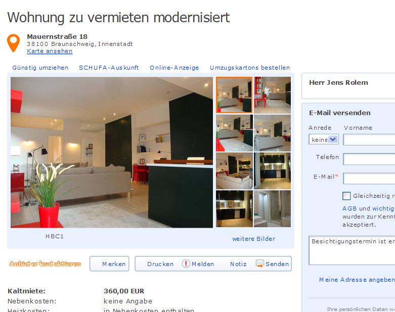 Wohnung zu vermieten modernisiert Burgstrae 15 48151 Mnster  Gegen Wohnungsbetrug against