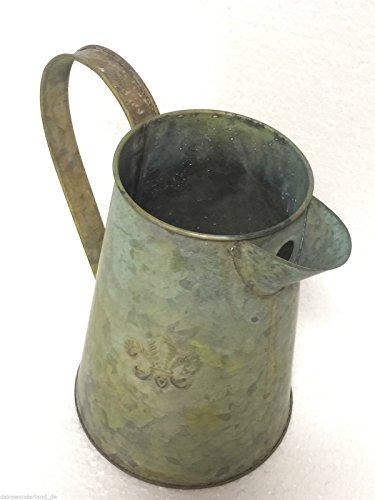 Kanne Metallkanne Zinkkrug Krug Zink Vase Dekokanne Metall