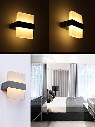 Lanfu Wandlampe Warmweie elegantes und modernes Design LED Wandleuchten ideal fr Schlafzimmer