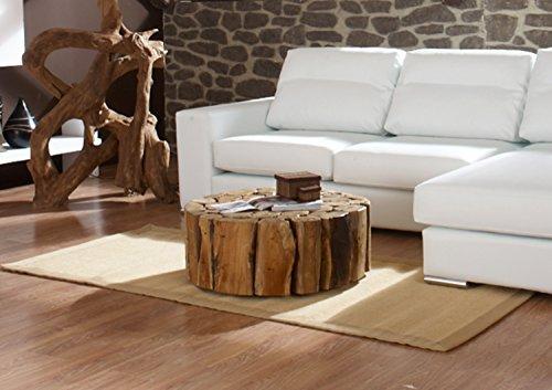 lI Il Teak Couchtisch Bega XL  Wohzimmer Tisch rund Holz massiv  Wurzel Wurzelholz Ihr