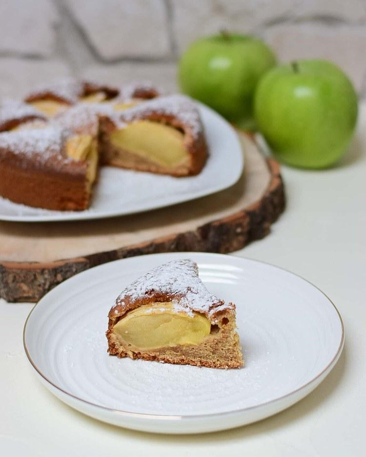 Apfelkuchen, zuckerfrei, ohne Weizenmehl