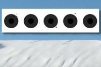 Biathlon Wallgau Zielscheibe fünf mal schwarz