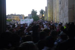 Foto Ansturm am Jaffa Gate