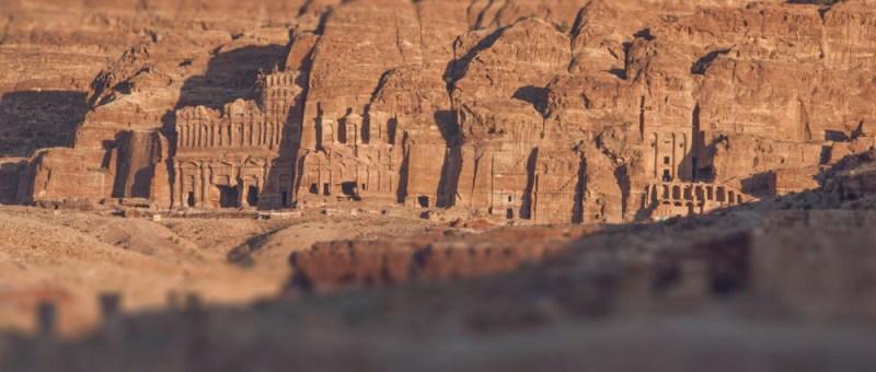 Foto Eindrucksvolles Massiv in Petra