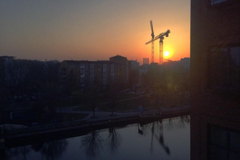 Foto Spreeblick bei Sonnenuntergang
