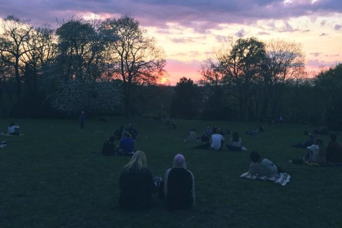 Foto Sonnenuntergang im Viktoriapark