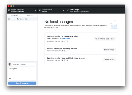 Github Desktop loads entry from the Keychain