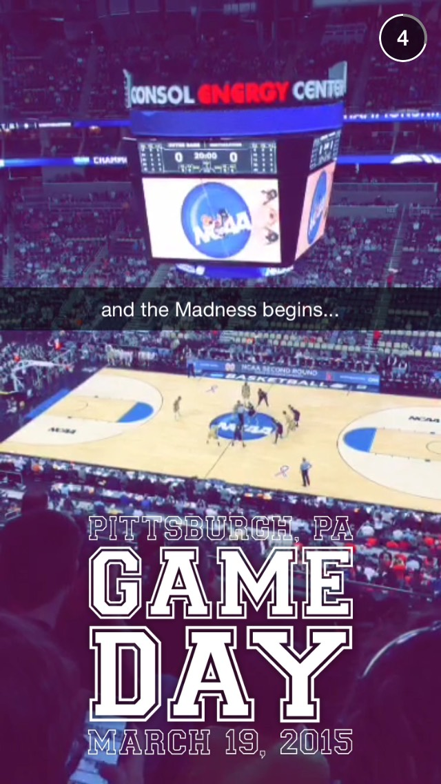 March Madness 2015 Snapchat Story On March 19th 2015