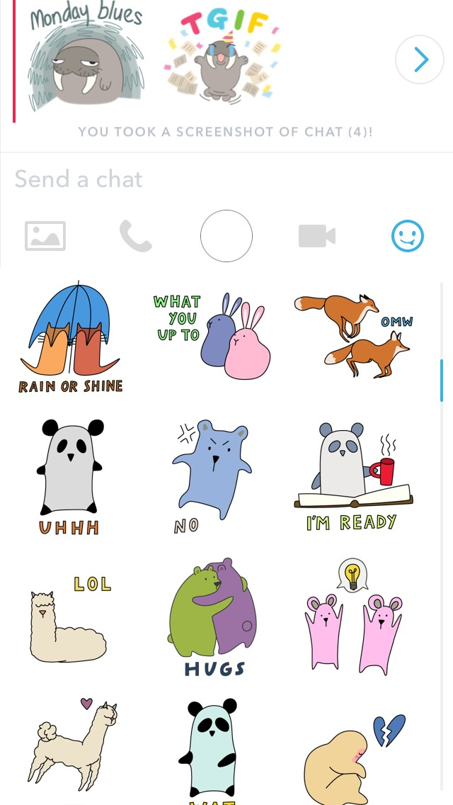 how to send snapchat sticker emojis in private text chat