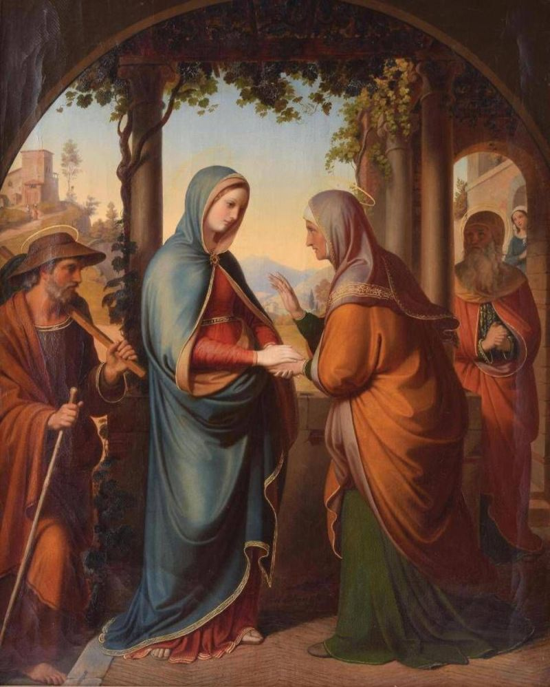 Nawiedzenie Świętej Elżbiety | Tajemince radosne różańca świętego