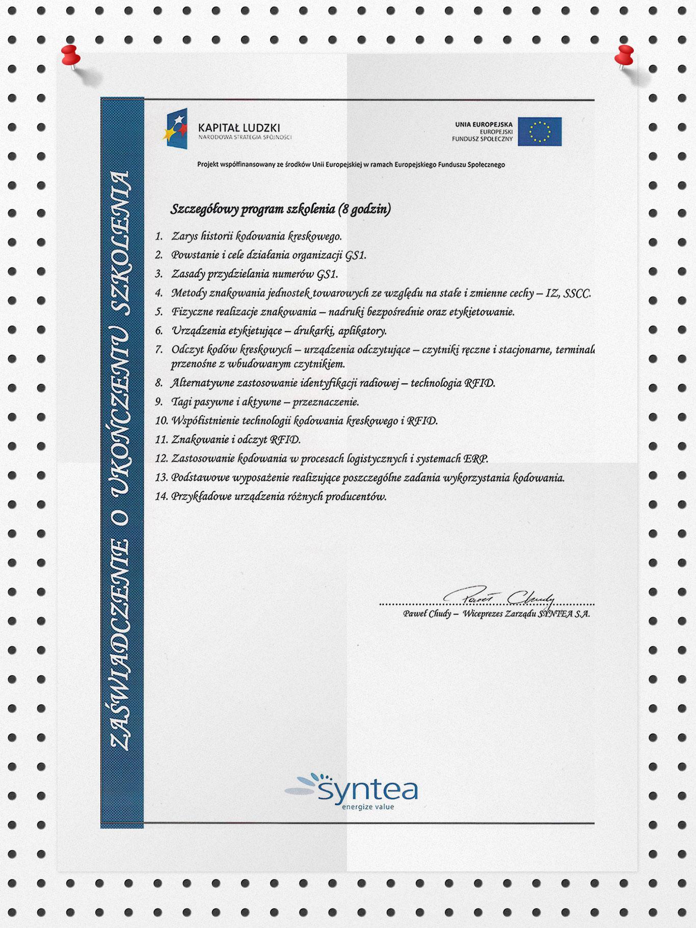 Kody kreskowe w firmie - zastosowanie w biznesie - 17.04.2013 str. 2