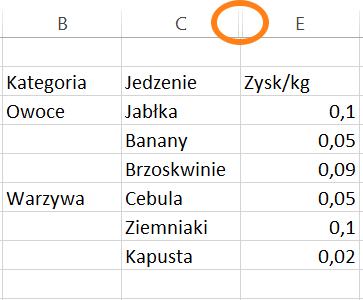 filtrowanie wykresów w Excelu 6