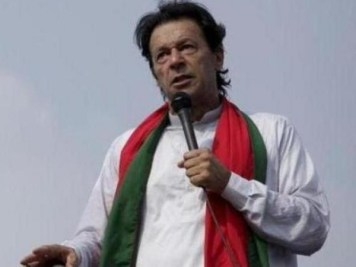 Shoe Hurled at PTI Chief Imran Khan