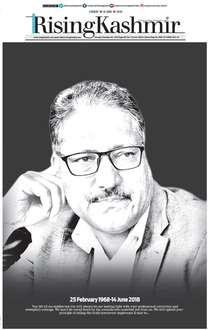 Prominent Journalist Shujaat Bukhari's Murder In Srinagar Overshadows UN Report on Kashmir