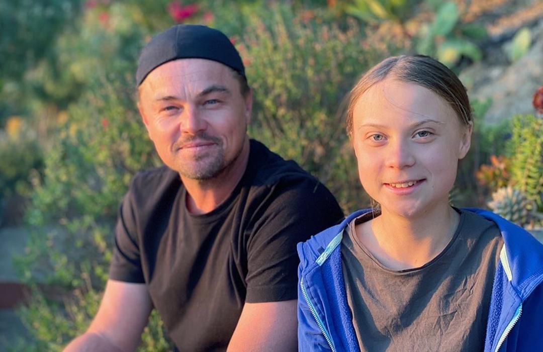 El encuentro entre Leonardo DiCaprio y Greta Thunberg
