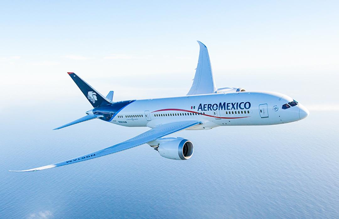 Aeroméxico realiza el vuelo de mayor alcance en México