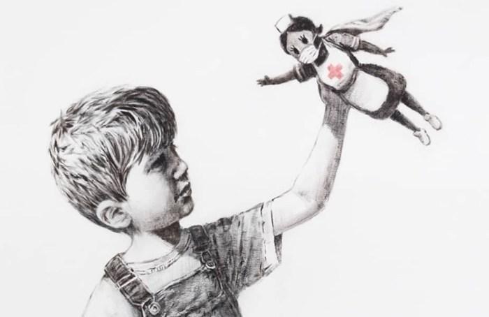 Banksy aparece con los superhéroes del coronavirus