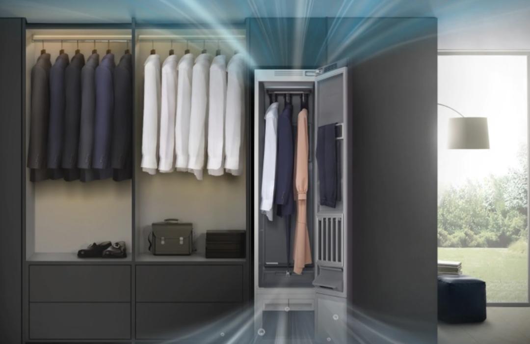¿Armario inteligente? Este clóset es capaz de vaporizar y desinfectar tu ropa