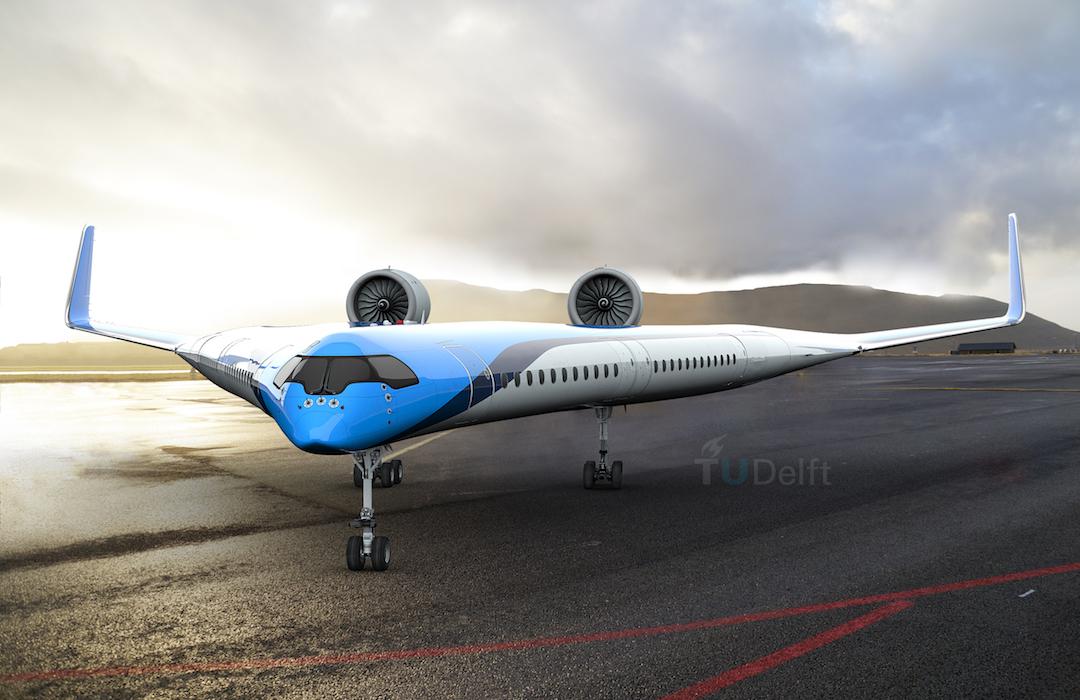 """Conoce el Flying-V, el avión """"más sustentable del mundo"""""""