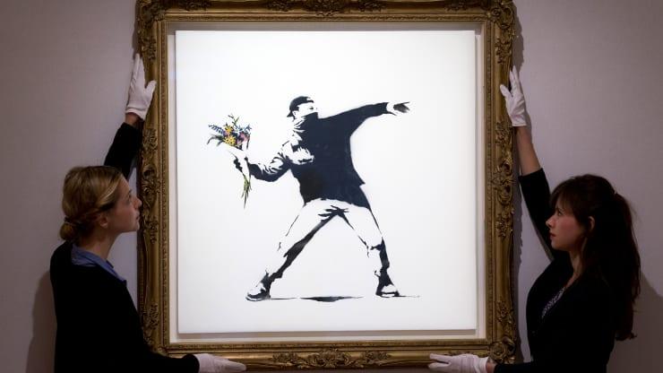Este Banksy se vendió en subasta ¡en criptomonedas!