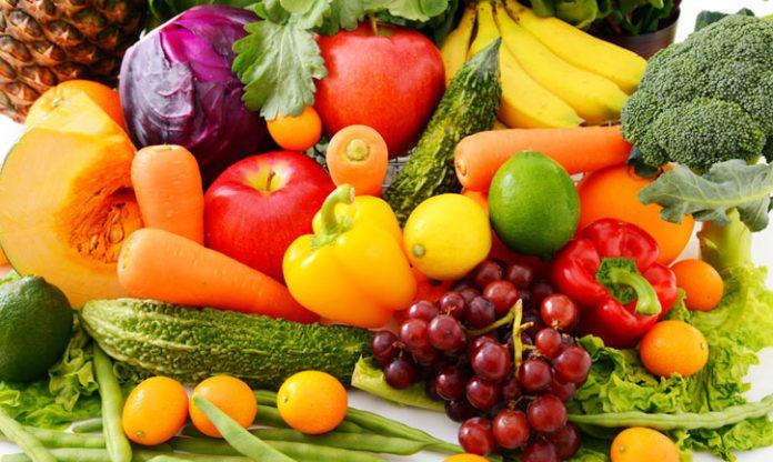 frutas y vegetales de temporada