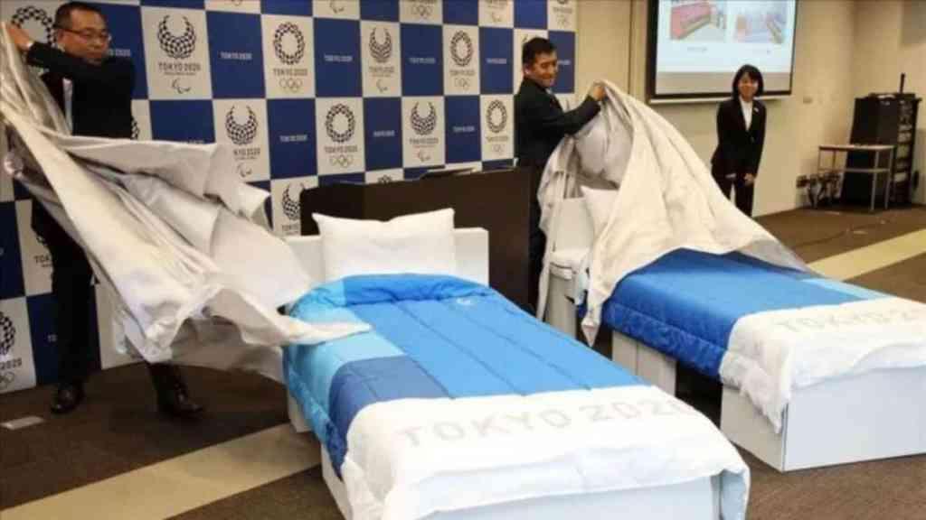 Instalan camas «anti-sexo» para evitar contagios de Covid en los Juegos Olímpicos